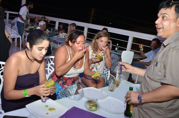 Chef Sunit Sharma conducts the McCain Burger competition